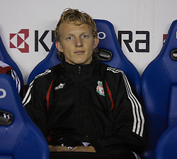 Reading, England - Saturday, December 8, 2007: Liverpool's Dirk Kuyt sits on the bench as a substitute before the Premiership match against Reading at the Madejski Stadium. (Photo by David Rawcliffe/Propaganda)