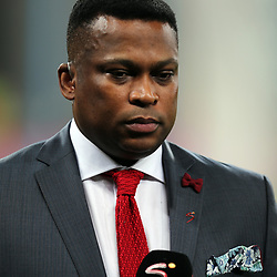 Robert Marawa during the 2018 Football World Cup qualifier  match between South Africa (Bafana Bafana)  and Cape Verde Islands,at the Moses Mabhida Stadium in Durban South Africa Tuesday, September 5,2017.  (Photo by Steve Haag)