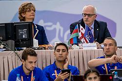 01-10-2017 AZE: CEV European Volleyball Azerbeidzjan - Turkije, Baku<br /> Turkije pakt de bronze medaille door het thuisland met 3-1 te verslaan / Jury Nico Houben