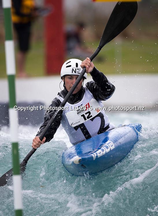 New Zealand's Haylee Dangen in action, WhitewaterXL, Vector Wero Whitewater Park,  Auckland, New Zealand. Friday 25 November 2016. © Copyright Photo: www.Photosport.nz