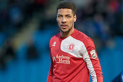 Michael Chambers (Welling United) during the Vanarama National League match between FC Halifax Town and Welling United at the Shay, Halifax, United Kingdom on 30 January 2016. Photo by Mark P Doherty.
