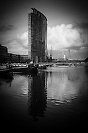 London. UK - canary warf in the docklands, business , bank and office area under development , east of London