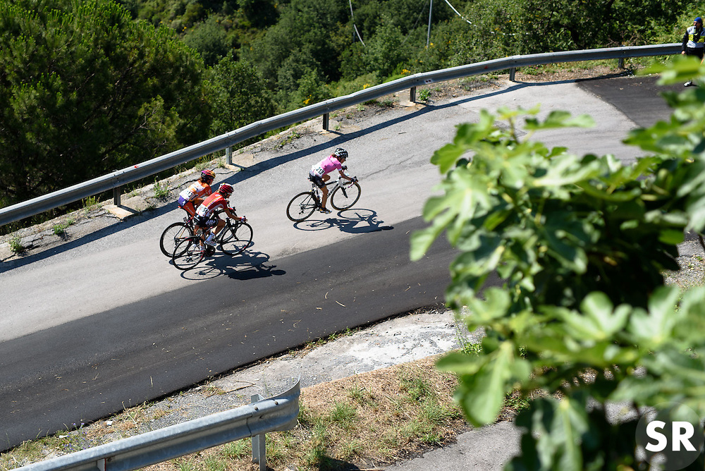 The chase with 3km to go at Giro Rosa 2016 - Stage 6. A 118.6 km road race from Andora to Alassio, Italy on July 7th 2016.