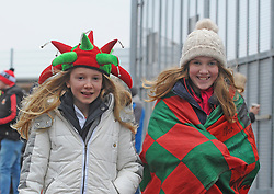 Ella and Mia Durkan from Charlestown pictured at the Mayo v Dublin league match at McHale park.<br /> Pic Conor McKeown
