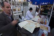 Istanbul. Ortako?y. The weekend market. Turkish omelettes.