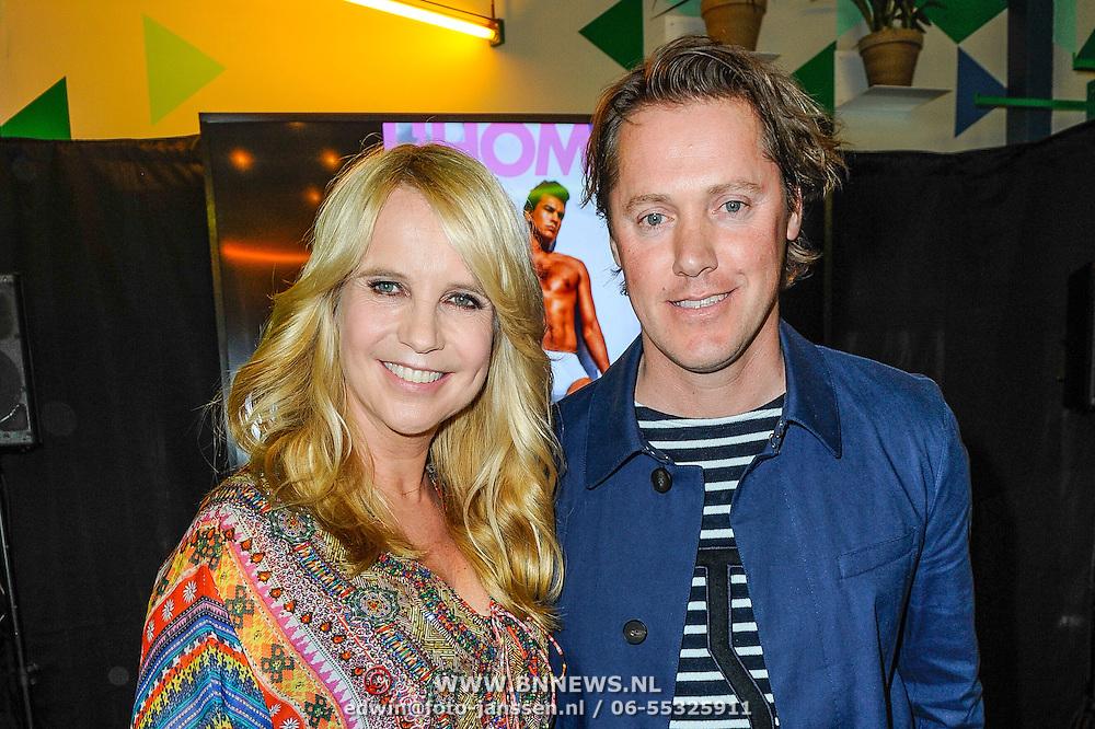 NLD/Amsterdam/20150420 - Presentatie L'Homo 2015, Linda de Mol en partner Jeroen Rietbergen