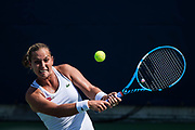 FLUSHING MEADOW, NY - AUGUST 28: DOMINIKA CIBULKOVA (SVK) day two of the 2018 US Open on August 28, 2018, at Billie Jean King National Tennis Center in Flushing Meadow, NY. (Photo by Chaz Niell/Icon Sportswire)