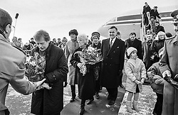 Dream journey: Canada and the United States, 18&ndash;23 February 1990<br /> Welcomed at Ottawa airport