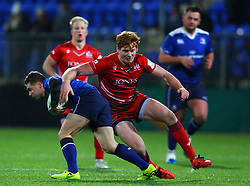 Jack Tovey of Bristol United attempt to tackle Jack Kelly of Leinster - Mandatory by-line: Ken Sutton/JMP - 15/12/2017 - RUGBY - Donnybrook Stadium - Dublin,  - Leinster 'A' v Bristol United -