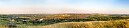 Panormaic of the Hi-line trestle spanning across the Sheyenne River in Valley City, North Dakota, USA