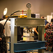 Washington, DC - AUG20: A high pressure press on display at the B.U.D. Summit, the Business, Understanding, & Development Summit, August 20, 2016, at the Renaissance Hotel in Washington, DC. The BUD Summit is poised to capture and accelerate the explosion of cannabis culture, business, and investment that has occurred in Washington, D.C. since the passing of initiative 71 in 2015. Photo by Evelyn Hockstein