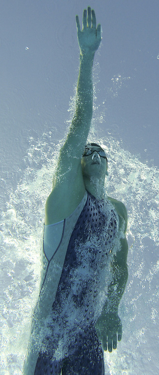 USA's Michael Phelps swims in the semi-final of the men's 200m Freestyle at the FINA World Championships in Montreal, Canada Monday 25 July, 2005.