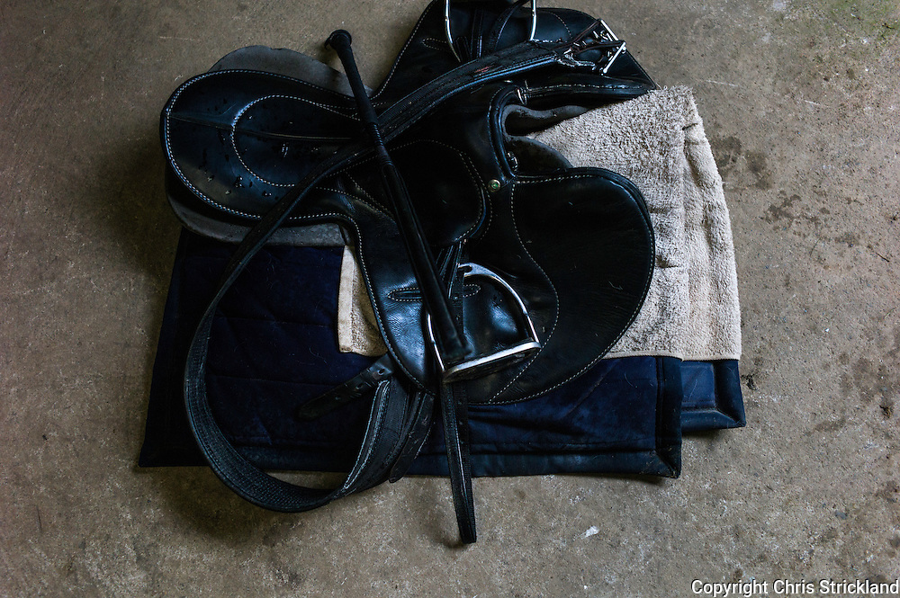Racing saddle belonging to Jockey Joanna Walton.