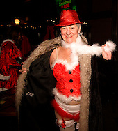 Pat Kammer of Butler Township at the Dublin Pub, the first stop of the Santa Pub Crawl through the Historic Oregon District near downtown Dayton, Saturday, December 10, 2011.