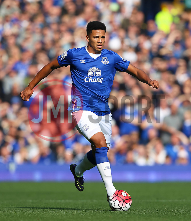 Everton's Tyias Browning   - Mandatory byline: Matt McNulty/JMP - 07966 386802 - 04/10/2015 - FOOTBALL - Goodison Park - Liverpool, England - Everton  v Liverpool - Barclays Premier League