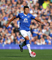 Everton's Tyias Browning   - Mandatory byline: Matt McNulty/JMP - 07966 386802 - 04/10/2015 - FOOTBALL - Goodison Park - Liverpool, England - Everton  v Liverpool - Barclays Premier League