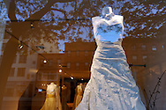 Bridal boutique front window on Atlantic Avenue, Brooklyn, NYC, 2009