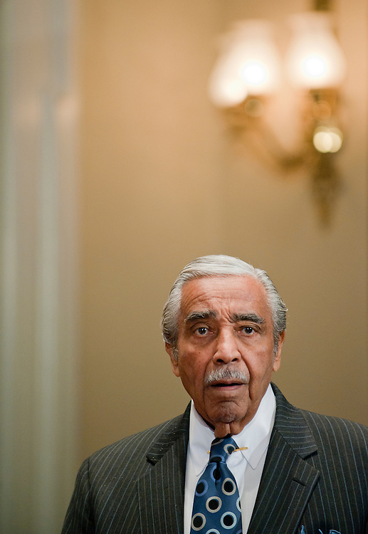 Nov 18, 2010 - Washington, District of Columbia, U.S. - Rep. CHARLES RANGEL (D-N.Y.) appears before a Ethics Committee hearing to determine what punishment it should recommend  response to multiple rules violations committed by the 20-term congressman. Penalties ranging from a fine to expulsion are possible. (Credit Image: © Pete Marovich/ZUMA Press)