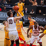 31 January 2017:  The San Diego State Aztecs men's basketball team hosts Wyoming Tuesday night at Viejas Arena. San Diego State forward Max Hotel (10) attempts a shot in the first half. The Aztecs lead the Cowboys 31-27 at half time. www.sdsuaztecphotos.com