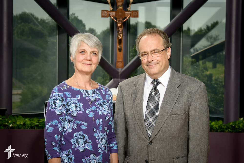 Portrait of Martin and Marie Dicke, career missionaries to Papua New Guinea, at the International Center of The Lutheran Church–Missouri Synod on Monday, June 13, 2016, in Kirkwood, Mo. LCMS Communications/Erik M. Lunsford