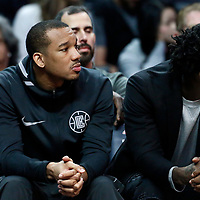 04 March 2018: LA Clippers guard Avery Bradley (11) is seen next to LA Clippers guard Patrick Beverley (21) during the LA Clippers 123-120 victory over the Brooklyn Nets, at the Staples Center, Los Angeles, California, USA.