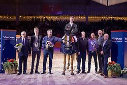 Vrieling Jur, NED, Arezzo VDL<br /> Springen Grote Prijs<br /> KWPN Hengstenkeuring 2017<br /> &copy; Dirk Caremans<br /> 02/02/17