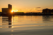 The wharf area near Oslo is a mixture of old and new structures, in this case the silo's across the water from me provided a stunning structure for light from the setting sun to 'wrap around'!