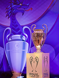 CARDIFF, WALES - Wednesday, August 31, 2016: The European Cup trophy on display during a gala dinner at the Cardiff Museum to launch the UEFA Champions League Finals 2017 to be held in Cardiff. (Pic by David Rawcliffe/Propaganda)