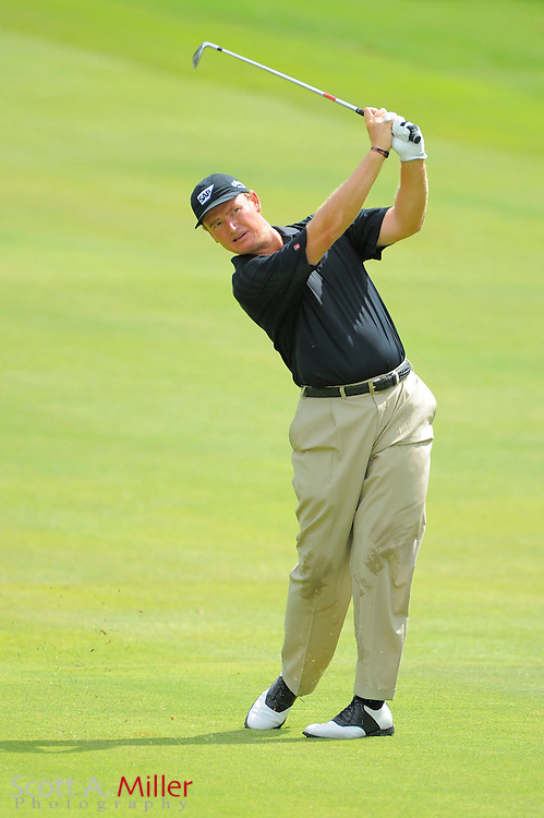 Ernie Els (RSA) hits his second shot on the first hole during the second round of the PGA Tour Championship at East Lake Golf Club on Sept. 25, 2009 in Decatur, Ga.     ..©2009 Scott A. Miller