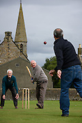Veterans of the Freuchie cricket team who saw off the Surrey favourites to the National Village Championship at Lords in 1985  play on the Fife teams home ground for the shock victory's 30th anniversary.