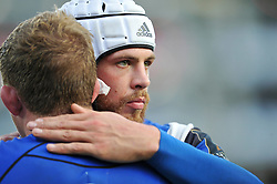 Dave Attwood of Bath Rugby looks dejected after the match - Photo mandatory by-line: Patrick Khachfe/JMP - Mobile: 07966 386802 25/10/2014 - SPORT - RUGBY UNION - Bath - The Recreation Ground - Bath Rugby v Toulouse - European Rugby Champions Cup