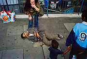 G.B. ENGLAND. Outside Elephant and Castle shopping centre. South London. 2003