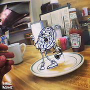 Animation and iPhone Photography<br /> Animator Marty Cooper creates brief animated shorts by blending traditional cel animation with photos he takes with his iPhone 5. By using transparent layers he's able to create characters that interact with other objects in the background and foreground in a method similar to stop motion.<br /> ©Marty Cooper/Exclusivepix