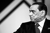 Silvio Berlusconi attends to political meeting