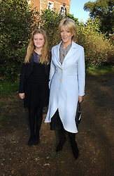 LADY COSIMA SOMERSET and her daughter ROMEY at the wedding of Lucy Ferry to Robin Birley held at Ormsby Lodge, Ham Gate Avenue, Ham, Surrey on 26th October 2006.<br />