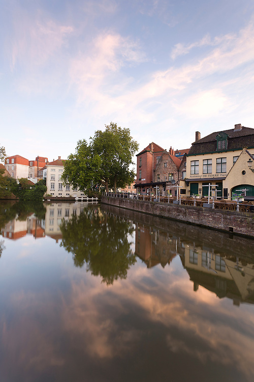 Houses by a canal in Brugge