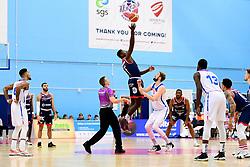 Daniel Edozie of Bristol Flyers wins the tip off - Photo mandatory by-line: Ryan Hiscott/JMP - 17/01/2020 - BASKETBALL - SGS Wise Arena - Bristol, England - Bristol Flyers v London City Royals - British Basketball League Championship