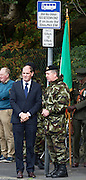 Minister of State at the Departments of An Taoiseach and Defence with Special Responsibility for Defence Paul Kehoe TD with Defence Forces Chief of Staff, Vice Admiral Mark Mellett DSM at the Cathedral in Galway before deployment to the Golan Heights in Syria. Photo:Andrew Downes, XPOSURE