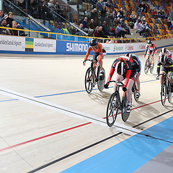 16-12-2016: Wielrennen: NK baanwielrennen: Apeldoorn<br /> APELDOORN (NED) baanwielrennen      <br /> Hetty van de Wouw is Nederlands kampioene keirin geworden. De 18-jarige wist verrassend Kyra Lamberink (tweede) en Laurine van Riessen (derde) achter zich te houden op dit onderdeel.