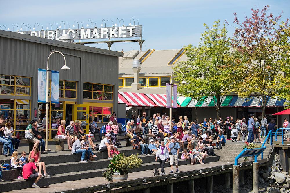 Canada, British Columbia, Vancouver , Granville island public market,