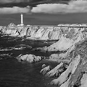 Point Arena Lighthouse - Infrared Black & White
