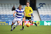 Queens Park Rangers defender Jake Bidwell (3) battles for possesion with Burton Albion midfielder Lasse Christensen (24) during the EFL Sky Bet Championship match between Queens Park Rangers and Burton Albion at the Loftus Road Stadium, London, England on 28 January 2017. Photo by Matthew Redman.