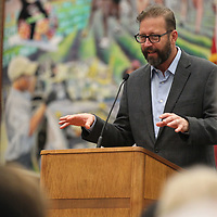 "Author Richard Grant discusses his book ""Dispatches from Pluto"" and his journey to the Mississippi Delta at Wednesday's Tupelo Read's event held at the Lee County Library."
