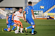 Peterborough United midfielder Joe Ward (15) on the ball during the EFL Sky Bet League 1 match between Peterborough United and Blackpool at The Abax Stadium, Peterborough, England on 29 September 2018.
