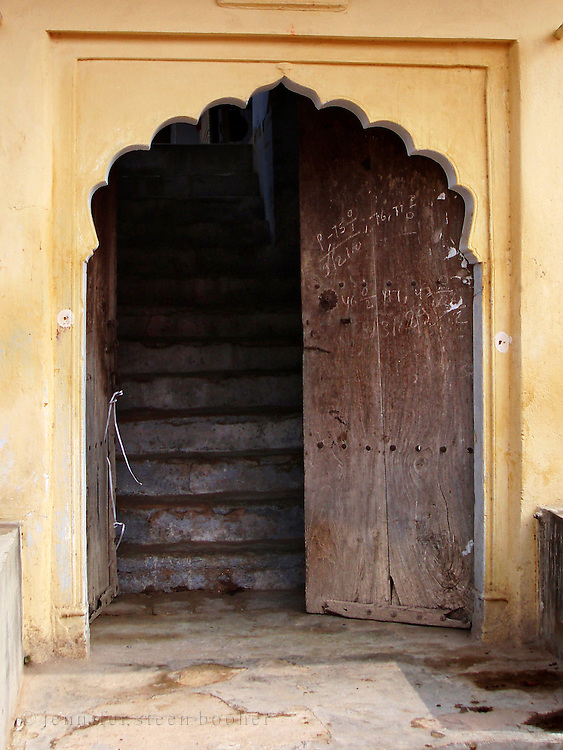 Open door, Amber, Rajasthan.