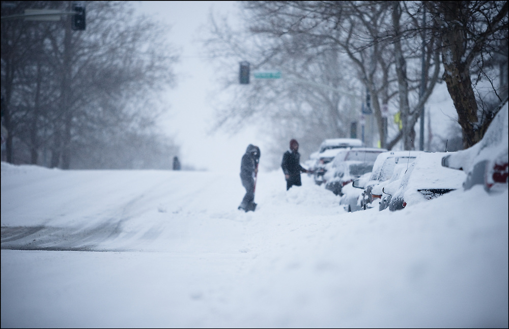 Dig out begins in Kansas City, MO after a major snow storm.