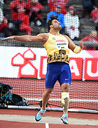 Ehsan Hadadi (IRN) places fifth in the discus at 214-4 (65.34m)  during the Bauhaus-Galan in a IAAF Diamond League meet at Stockholm Stadium in Stockholm, Sweden on Thursday, May 30, 2019. (Jiro Mochizuki/Image of Sport)