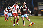 Burnley Midfielder, George Boyd deftly controls the ball  during the Sky Bet Championship match between Burnley and Charlton Athletic at Turf Moor, Burnley, England on 19 December 2015. Photo by Mark Pollitt.