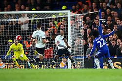 Willian of Chelsea shots is saved by Hugo Lloris of Tottenham Hotspur - Mandatory byline: Jason Brown/JMP - 02/05/2016 - FOOTBALL - London, Stamford Bridge - Chelsea v Tottenham Hotspur - Barclays Premier League