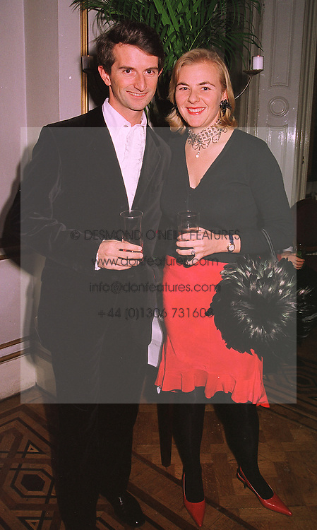 COUNT & COUNTESS MANFREDIE DELLA GHERARDESCA, at a party in London on 4th February 1999.MOA 3